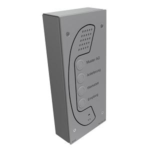 Téléphone mains libres HVI-TEC 2112IPC (2 boutons d'appel et caméra IP) Image