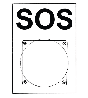 Tableau SOS avec touche à tête de champignon Image
