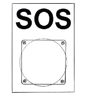 SOS-Platte mit Pilz-Taster Image