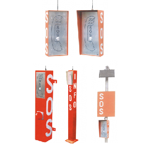 Vandal-proof SOS handsfree stations with analogue, GSM or VoIP SIP connection Image